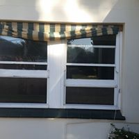 old windows wih awning