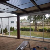 new sliding screen to outdoor area - commerical